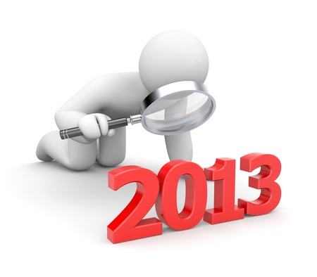 people isolated: New Year Metaphor Stock Photo