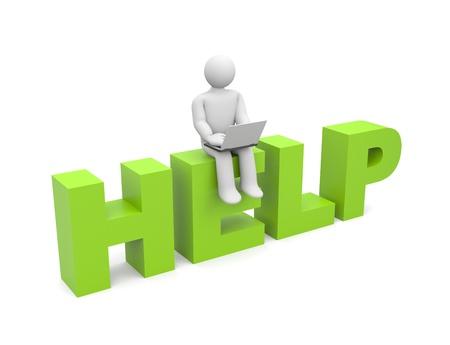 self help: Assistance metaphor  People at work