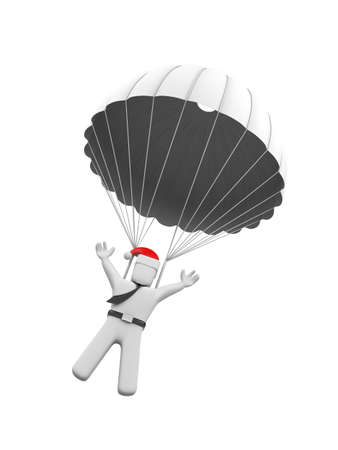 parachuter: Business and christmas concept