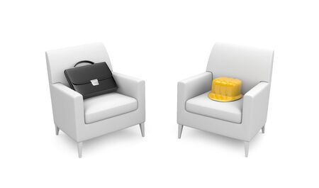 isolated chair: Business concept
