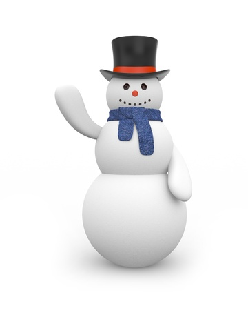 snowman isolated: Snowman Stock Photo