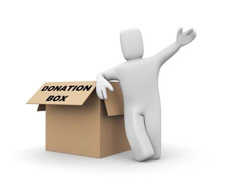 pay raise: Donation box