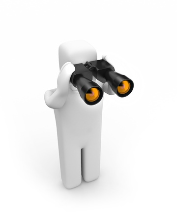 Person with binoculars photo