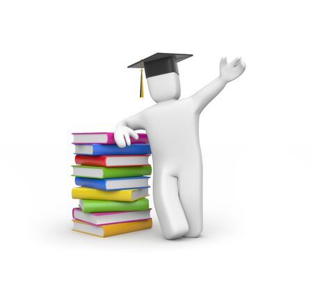 acknowledgement: Education concept  Isolated on white