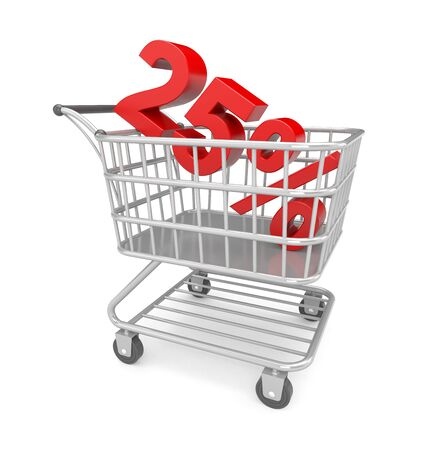 Shopping cart with text Stock Photo - 17112733