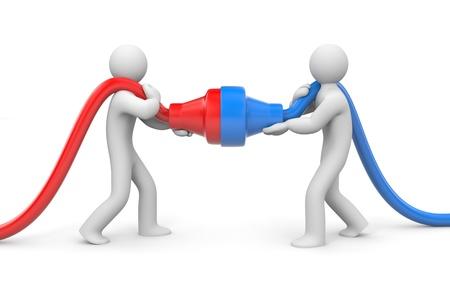 Concept de partenariat Isolé sur fond blanc Banque d'images