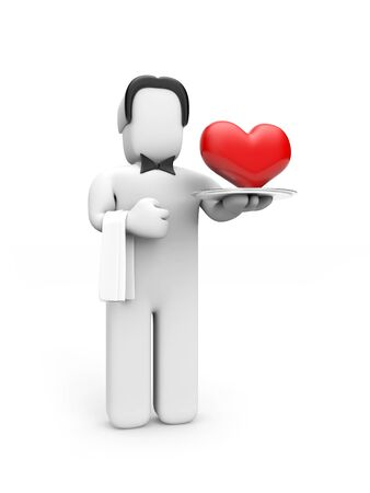 caterer: Person with heart Stock Photo