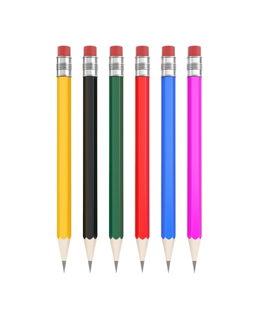 Pencils  Easy editable for you design photo