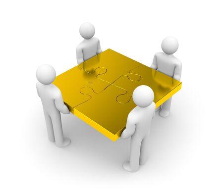 merge: Partnership concept  Isolated on white