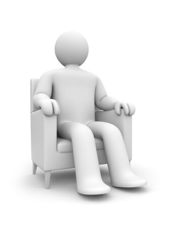articles of furniture: Relaxation concept Stock Photo