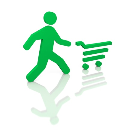 Time to shopping  Run on shops  Concept Stock Photo - 17112166