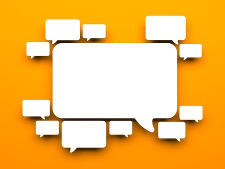 Communication concept. Isolated on white Stock Photo - 18611218