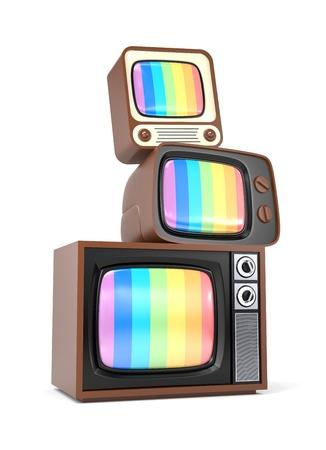 Tas de cru TV Banque d'images - 19786013
