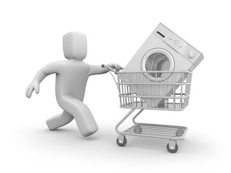 supermarket cart: Shopping concept