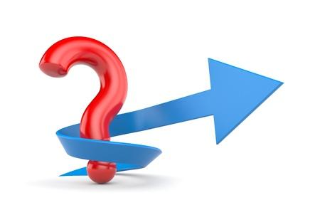 questionail: Signo y s�mbolo aislado en blanco