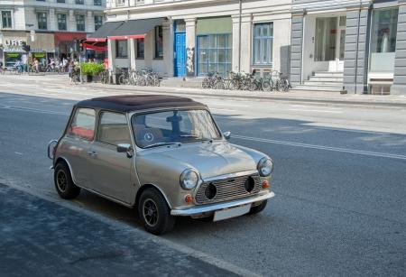 Old car on europe street