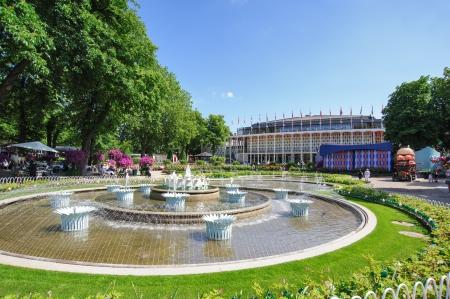 fount: Old European park in Copenhagen Editorial