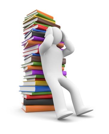 failure sign: Headache from books