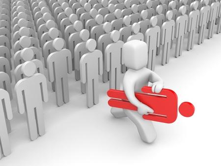 choose person: Success concept
