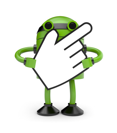 Robot with hand cursor photo