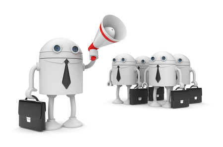 talking robot: Business concept
