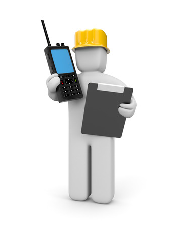 cb phone: People at work metaphor