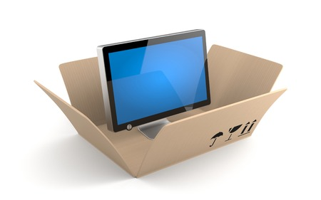 tele: Electronics and technologies Stock Photo