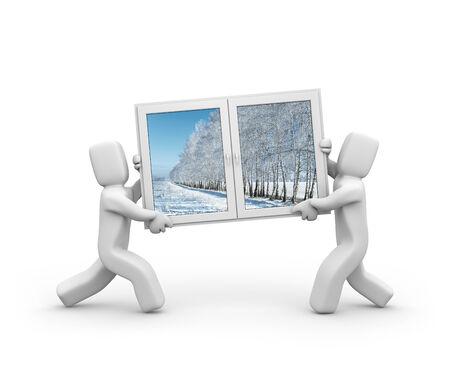 Windows to winter Stock Photo - 23381631