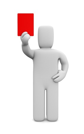 reprimand: Red card Stock Photo