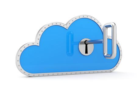 Cloud and key  Secure metaphor  Stockfoto