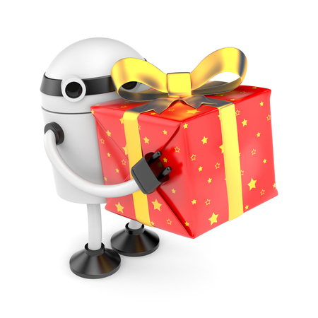 Robot with gift photo