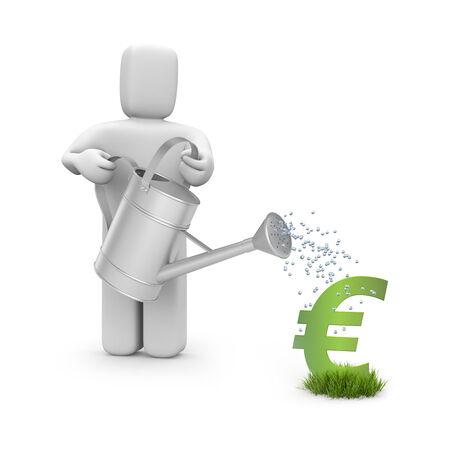 grow money: Money grow Stock Photo