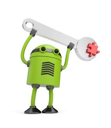 Robot Manual worker photo