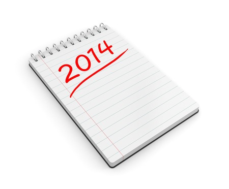 todo: To-do list for the new year  Isolated on white