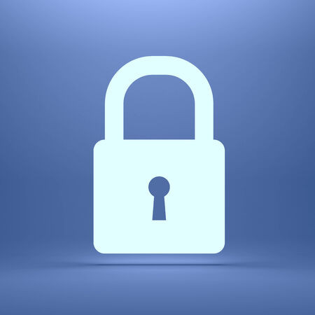 padlock icon: Glowing silhouette of lock  Conceptual image