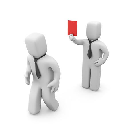 unemployed: Red card Stock Photo