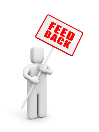 Feedback, reviews and discussion Stock Photo