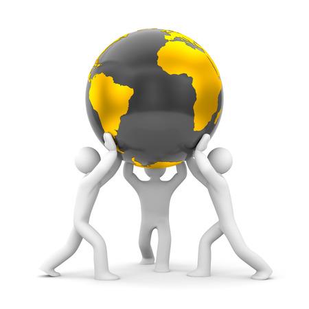 mundo manos: Tierra en nuestras manos. Excepto la tierra