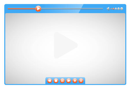 Video player  Vector quality illustration Vector
