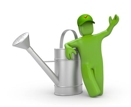 handle with care: Manual worker Stock Photo