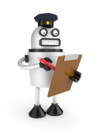 metal worker: Robot policeman