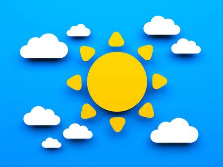 firmament: Sun with cloud  Conceptual image
