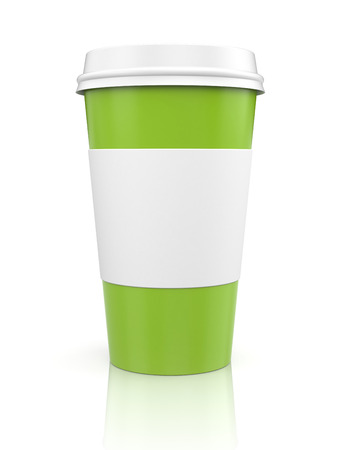 thermo: Coffee in thermo cap  Green metaphor