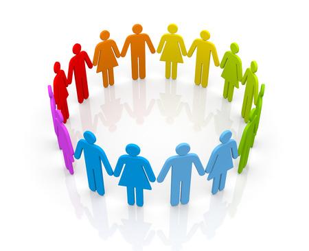 3d circle: Teamwork concept Stock Photo
