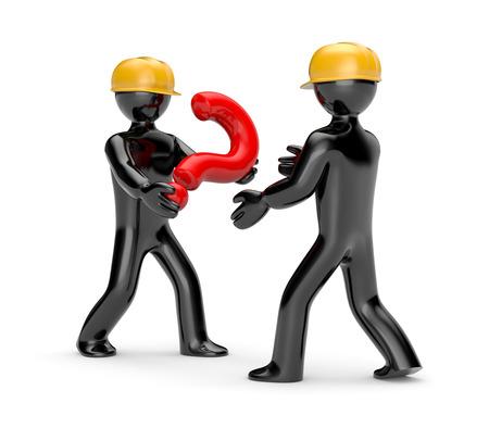 troubleshoot: Business concept