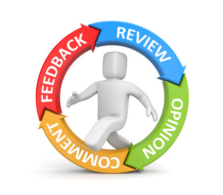 affirm: Feedback, reviews, opinion, comments metaphor