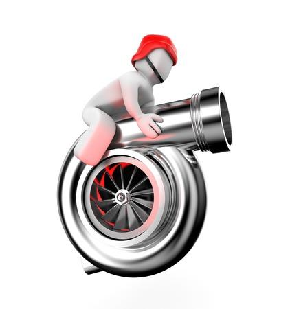turbocharger: Turbocharger Stock Photo