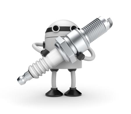 New technologies metaphor. Isolated on white photo