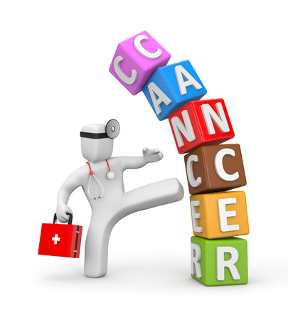 Fight with cancer 스톡 콘텐츠