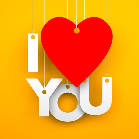 love image: I love you. Conceptual image